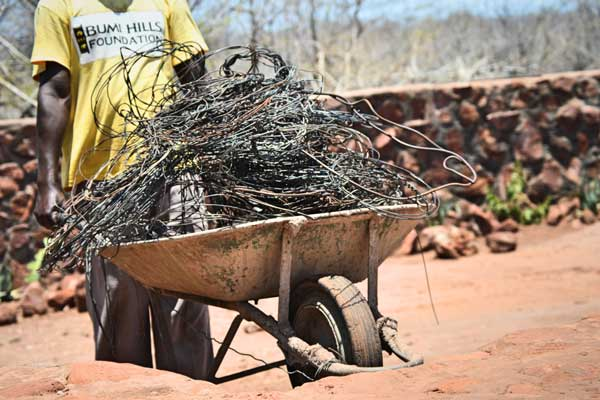 Recycling Poaching Tools into Anti Poaching Ranger Accommodation